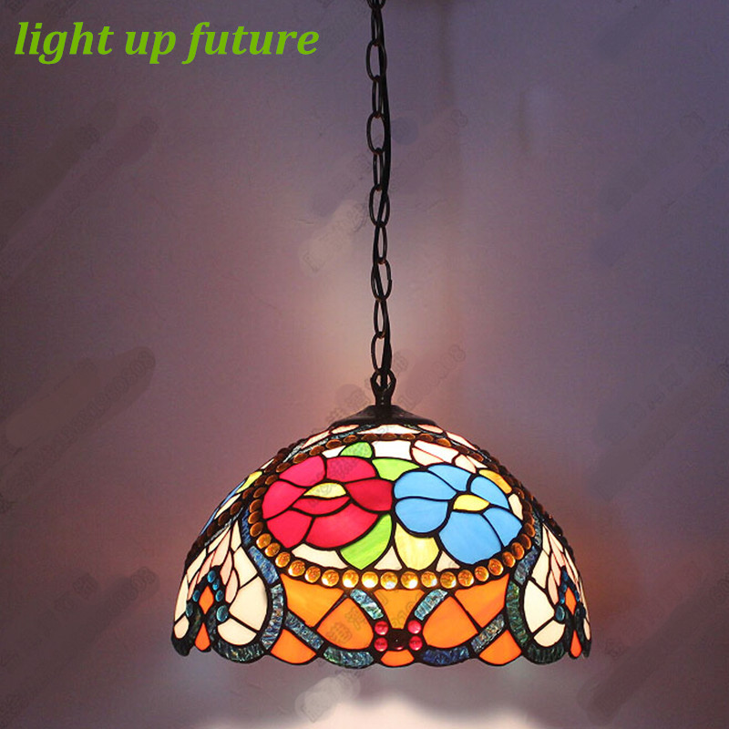 Vintage Handmade Glass Tiffany Pendant Light for Living Room Dining Room Dia 20/30/40cm Vintage Glass Pendant Lamps 2103 pandora box 5 960 in 1 arcade version jamma version orange multi game board hdmi vga output hd 720p jamma board arcade machine