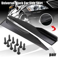 New Arrival 1 Pair Universal Black Car Side Skirt Rocker Splitters Winglet Canard Diffuser 74.5x4.5x5cm