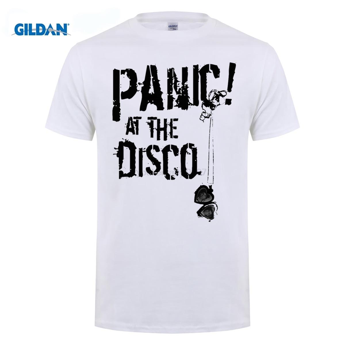GILDAN Fashion T Shirt Short Short O-Neck Panic At The Disco Panic At The Disco T Shirts