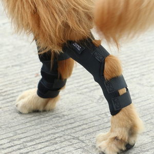 Image 2 - 2PCS/pair Dog Kneelet Pet Leg Knee Hock Brace Straps Protection Dog Bandages Wrap Medical Supplies Dogs Pad Therapeutic Support
