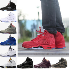 d3cd304e086409 2018 5 men Basketball Shoes Red blue Suede Bordeaux Camo Black Olympic OG  metallic Gold Black