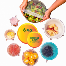TTLIFE 6pcs/lot silicone Cling Film Seal Vacuum Food Magic Wrap Multifunctional Transparent Food Fresh Keeping Plastic Wrap