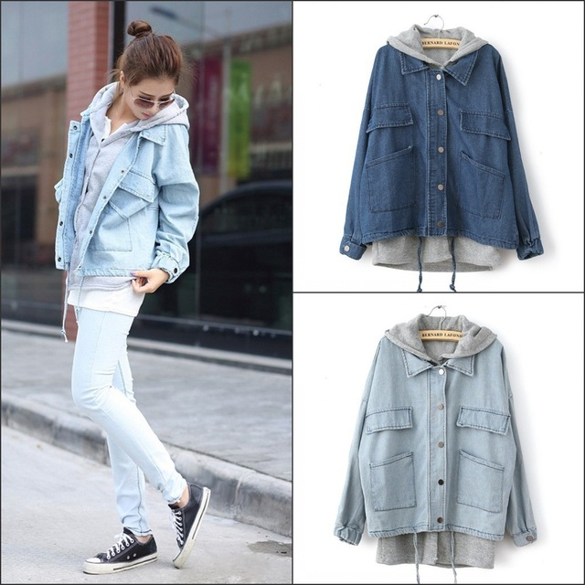 New Fashion Women's denim jacket,All match casual jeans coat ...