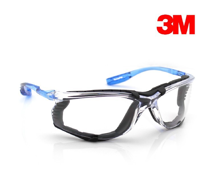 3m virtua ccs protective eyewear safety goggles with foam gasket corded earplug control system clear