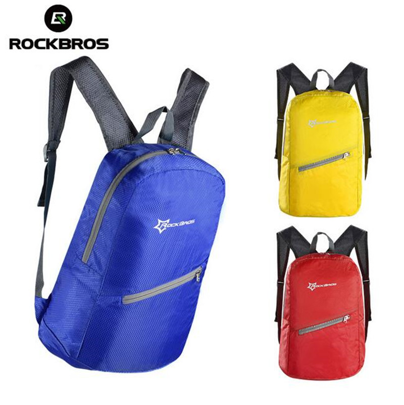 Rockbros Men&Women Outdoor Sport Cycling Bike Bicycle Bag Waterproof Ultra-thin Portable Folding Backpack 3 Colors