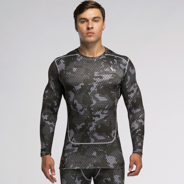 VANSYDICAL Men s Workout Clothes Body Fitting Garments Quick Dry  Compression Shirt Long Sleeve Cross Training Base Layer Gym 7301eaab3e72c