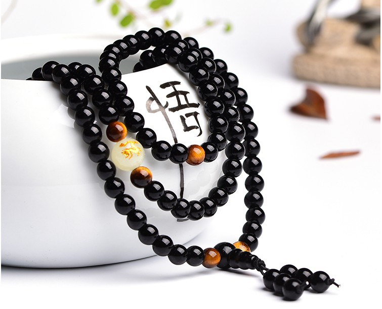 Black-Buddha-Beads-Bangles-Bracelets-108-Beads-Guru-Handmade-Jewelry-Ethnic-Glowing-in-the-Dark-Bracelet