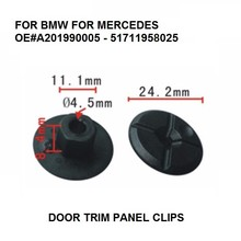 OE#A201990005 – 51711958025 DOOR TRIM PANEL CLIPS FOR BMW MERCEDES WHEEL ARCH LINER / PLASTIC CROSS NUT x10 BLACK NEW