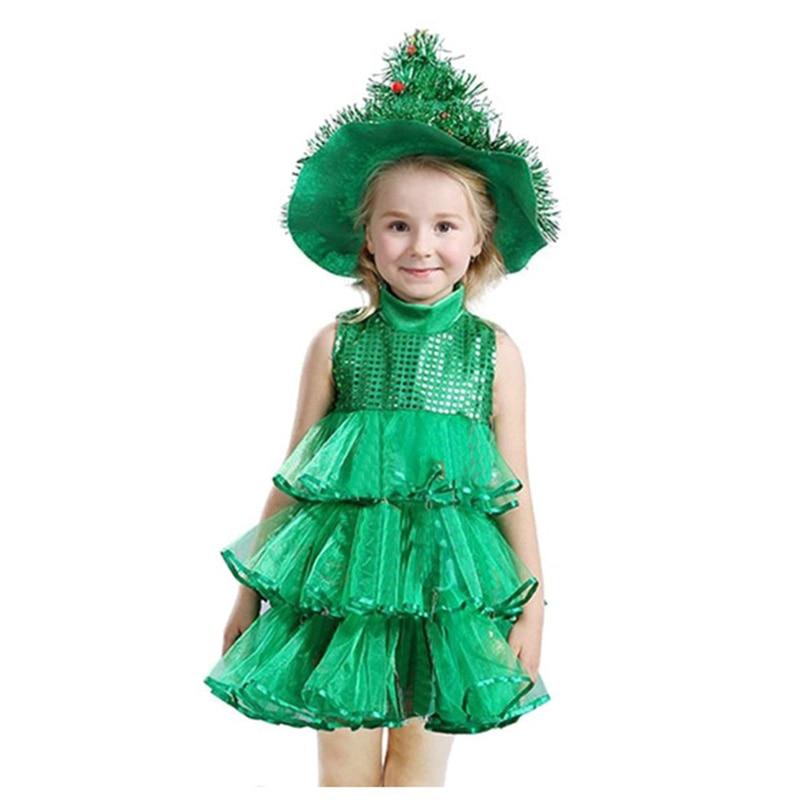 Baby Girl Sleeveless Dresses Children Green Clothes ...