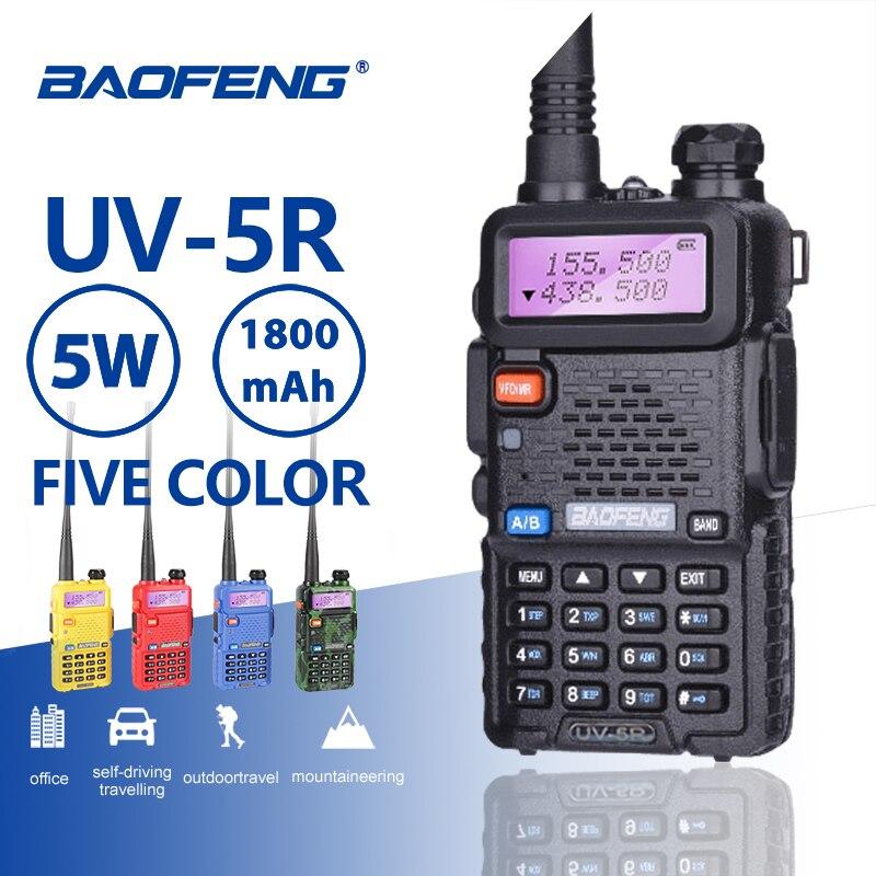 Baofeng UV-5R Professional Walkie Talkie 5 W UHFVHF Tragbare UV5R Zwei Weg CB Radio Station UV 5R Jagd HF Transceiver ham Radio