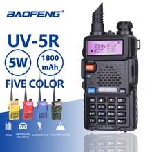 Baofeng UV-5R профессиональная рация 5 Вт UHFVHF Портативный UV5R двухстороннее CB радиостанции УФ 5R охоты HF радиоприемник приемопередатчика