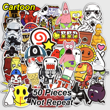 50 Pcs Cartoon Stickers Mixed Funny Cute Style Waterproof Snowboard Luggage Laptop Motorcycle Television Doodle Sticker