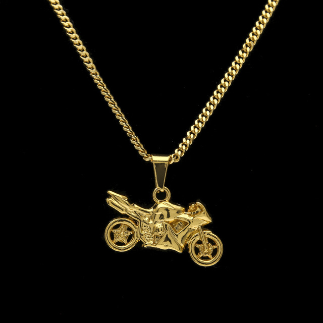 Hip hop golden motorcycle pendants chains men women iced out bling hip hop golden motorcycle pendants chains men women iced out bling crafts jewelry gifts motor racing mozeypictures Gallery