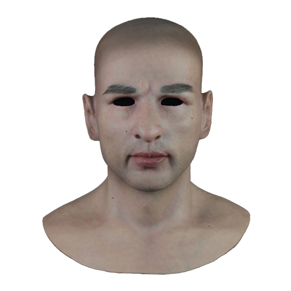 (SF-N10) Party crossdress masquerade cosplay realistic human face man silicone male full head mask for Halloween fetish wear