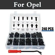 240 шт. Push Pin заклепки чехол для хранения заклепки для Opel Адам Agila Ampera Antara opc Cascada Corsa opc GT