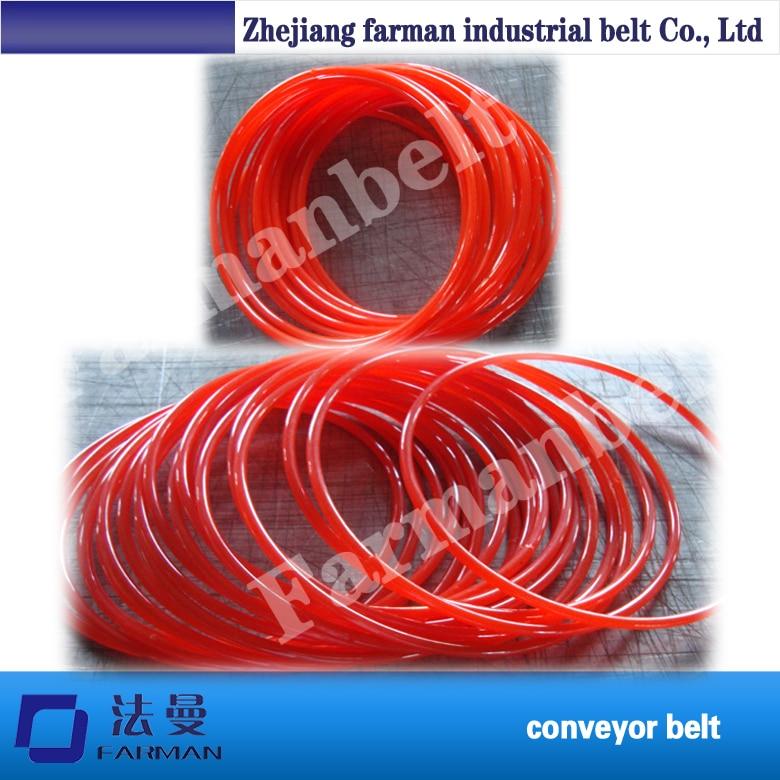 Farman Brand Pu Polyurethane Transmission Belt / Pu Rough Belt / Polyurethane Round Belt contrast pu wide belt