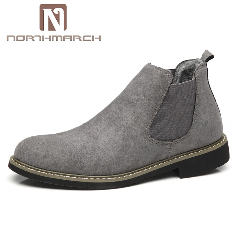 NORTHMARCH hiver chaussures Chelsea bottes hommes chaud botte hommes décontracté Cuir bottines Sapato Masculino Chaussure Homme Cuir