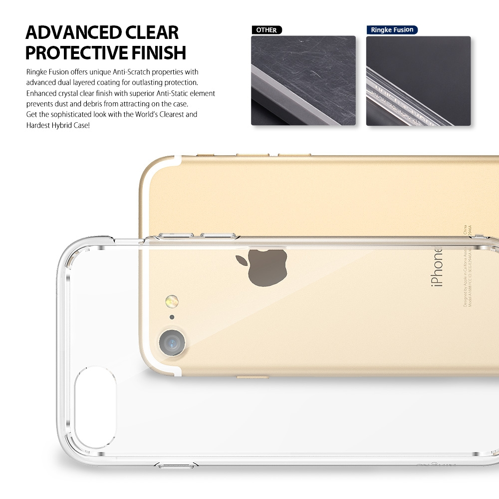 Buy Ringke Fusion Cases For Iphone 7 8 Rearth Plus Slim Gloss Black Military Grade Drop Protection Clear Panel Soft Frame Hybrid From Reliable