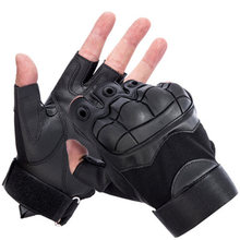 цена на Camping Hiking Gloves Soft Half Finger Tactical Gloves 2020 Military Anti-Skid Rubber Hard Knuckle Paintball Fingerless Gloves