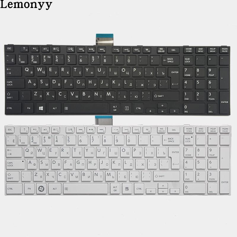 NEUE Russische laptop Tastatur für TOSHIBA SATELLITE L850 L850D P850 L855 L855D L870 L870D RU Schwarz/weiß tastatur