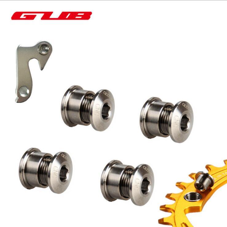 5pcs/lot M8*6 TC4 Titanium Bike Chainwheel Disc Bolts For SHIMANO MTB Road Bicycle CNC Crankset Arm Bolt BB Chain <font><b>Wheel</b></font> Screws