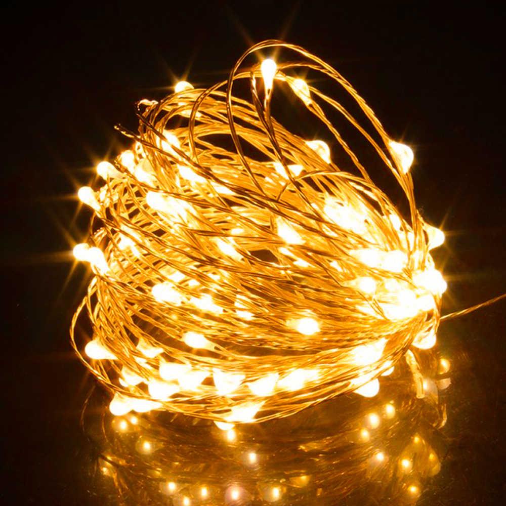 2 м, 5 м, 10 м, медный провод, USB светодиодный светильник, праздничный, водонепроницаемый, для сада, рождественской елки, вечерние, свадебные украшения, сказочный светильник