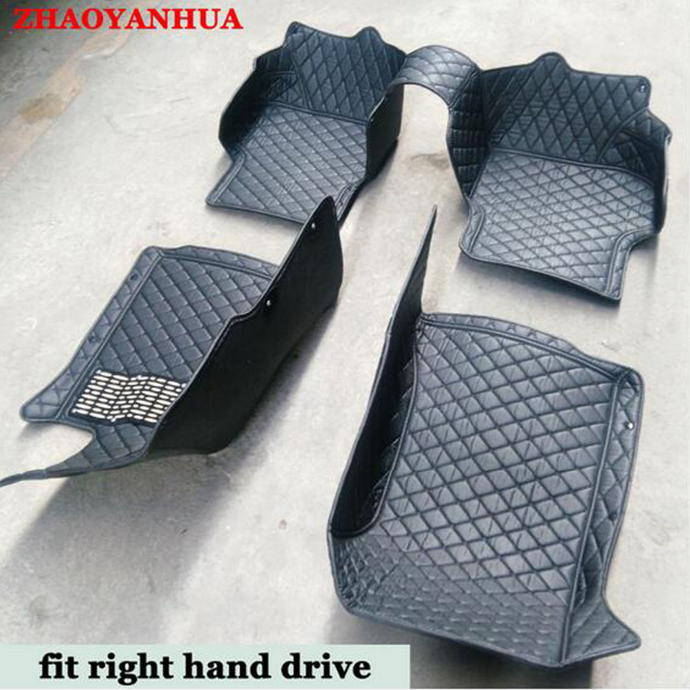 ZHAOYANHUA Right hand drive car car floor mats made for Kia Carens Rondo 6D full cover foot case heavy duty car-styling carpet rZHAOYANHUA Right hand drive car car floor mats made for Kia Carens Rondo 6D full cover foot case heavy duty car-styling carpet r