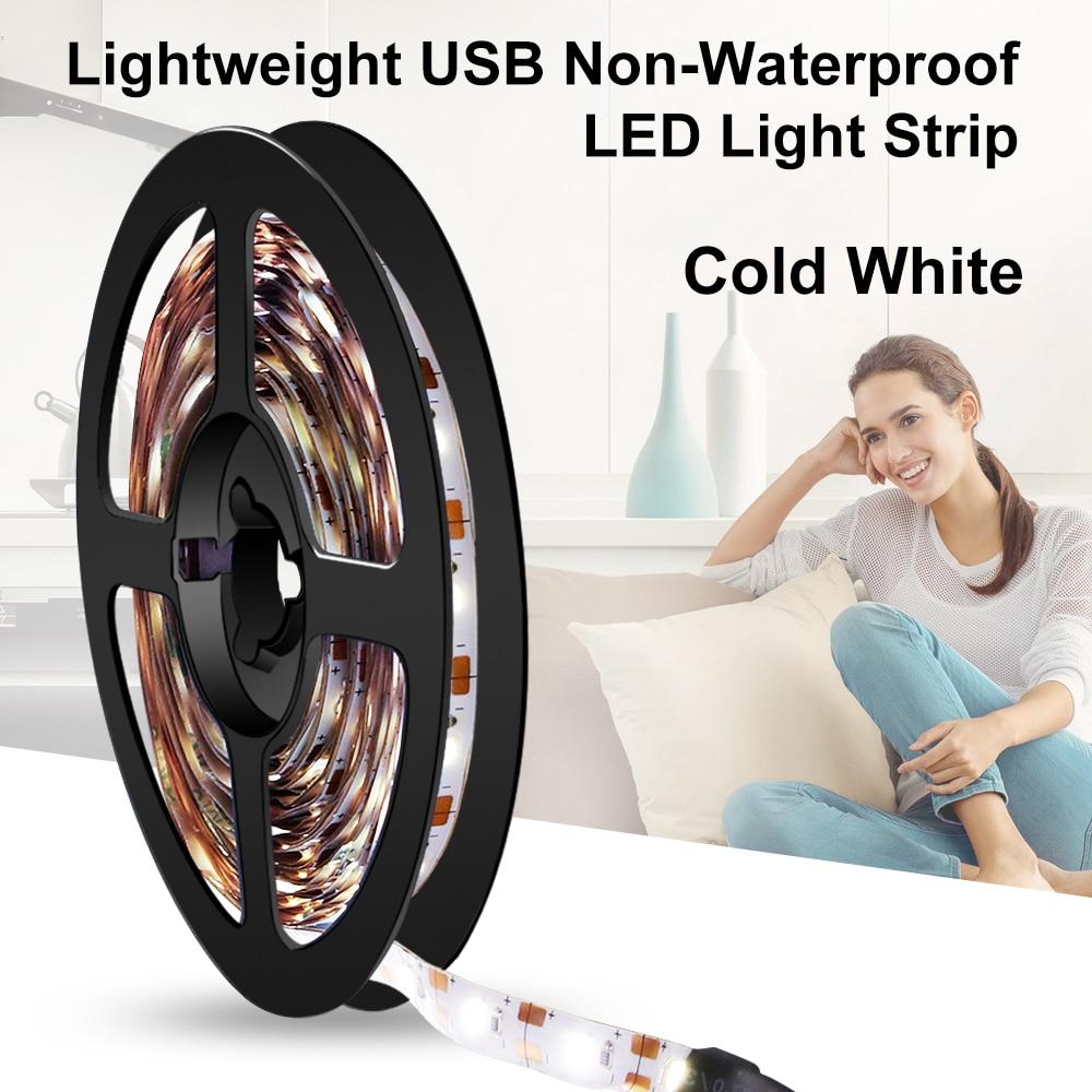 5V USB Cable LED Strip Flexible Light Lamp SMD 2835 50CM 1M 2M 3M 4M 5M Christmas Desktop Screen LED Tape TV Background Lighting in LED Strips from Lights Lighting