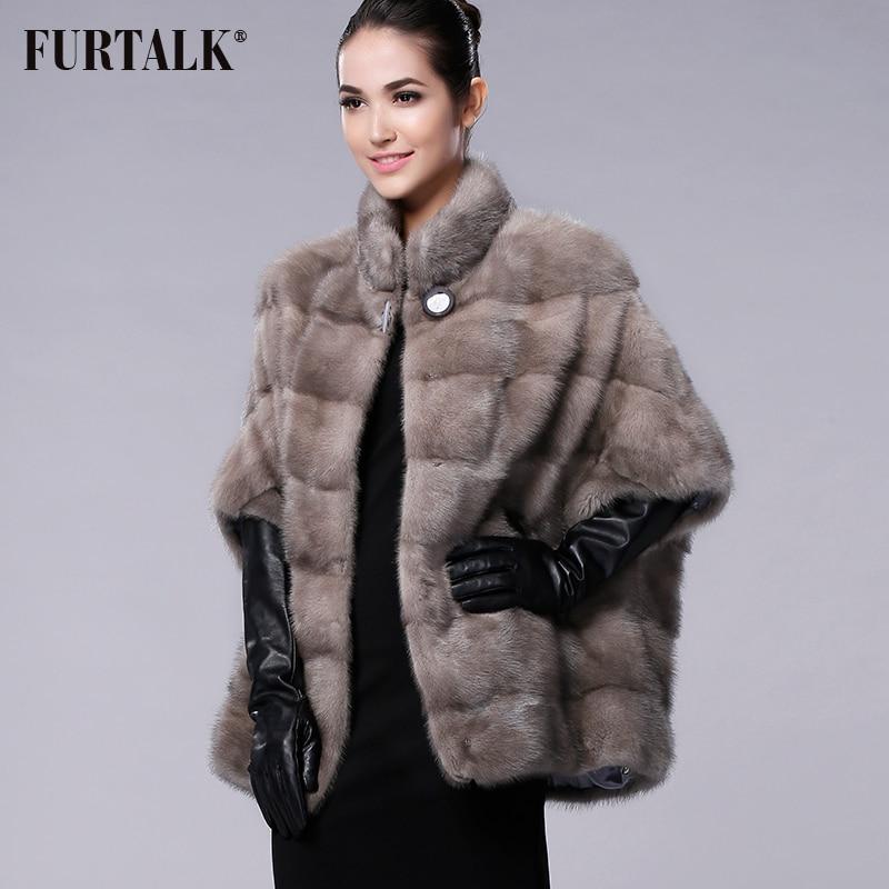 FURTALK Verdadeiro mink naturais casaco de pele das Mulheres de Inverno da marca Russa