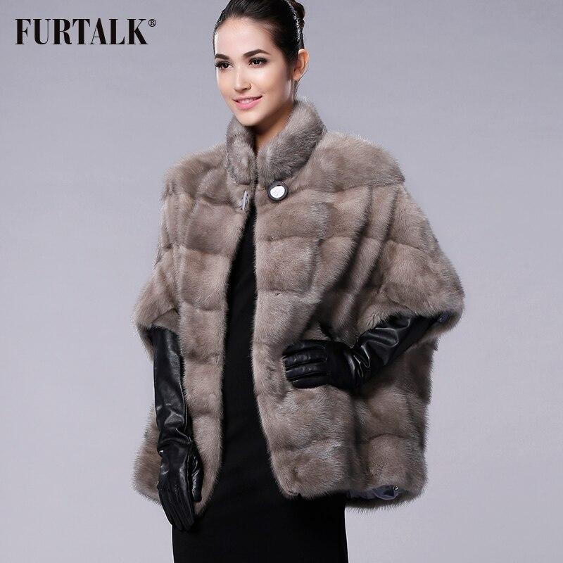 FURTALK العلامة التجارية الروسية الشتاء المرأة ريال الطبيعية فرو منك معطف-في فراء حقيقي من ملابس نسائية على  مجموعة 1