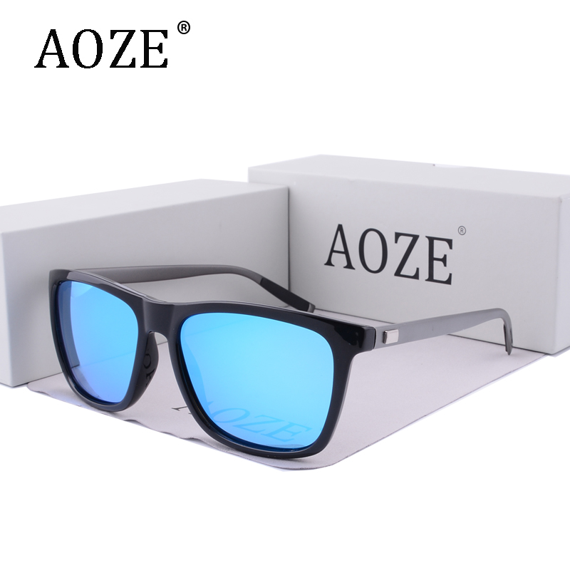 2017 AOZE brand design Polarized Sunglasses driving Luxury Aluminum+TR90 Night Vision Mirror or Men's Women D Style Sun Glasses