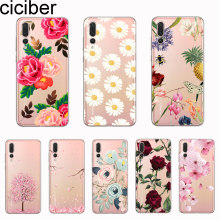 ciciber Cover For Mate 20 10 9 Lite Pro X For Huawei P20 Lite 10 9 Pro Plus P smart 2019 Phone Cases Soft TPU Cute Flower Rose(China)