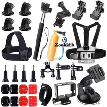 Zookkbb Accessories Kit Head strap Chest strap Monopod Floating Handle Grip Suction Cup Bike Handlebar for Gopro Hero4 3+ 3