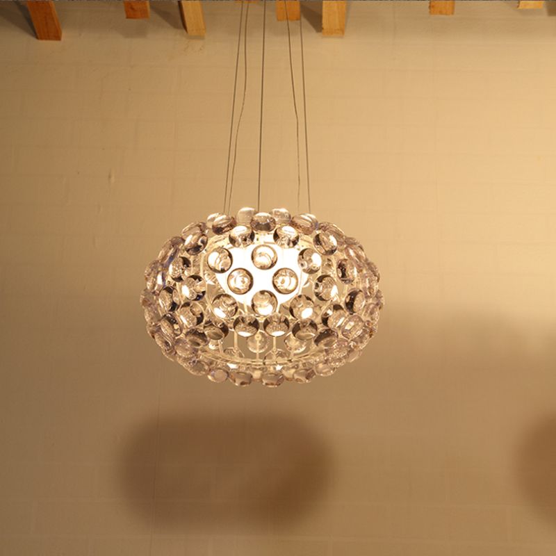 Moderna sala de estar acrílico RS7 bombilla lámparas colgantes comedor Foscarini Caboche Dia35/50/65 CM claro lámpara colgante dorada - 2
