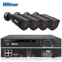 Witrue 4CH 48V POE NVR System FHD 1080P Outdoor Waterproof IP Camera Surveillance System IR Night