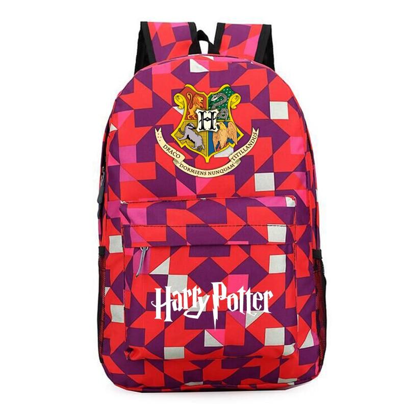 Movie Harry Potter 2018 New School Backpack boys&Girls Fashion for teenagers Bags Harajuku Rucksacks Mochila бюстгальтер patti belladonna белый 80c ru