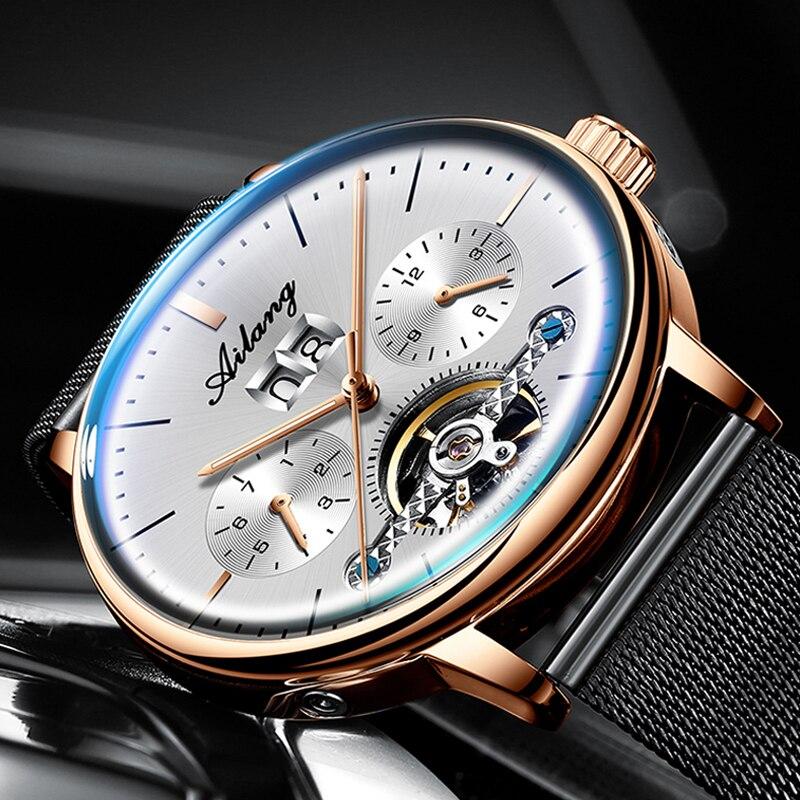 AILANG Sport Tourbillon Montre mécanique décontracté luxe hommes montres Top marque Montre Homme horloge hommes Montre automatique hommes