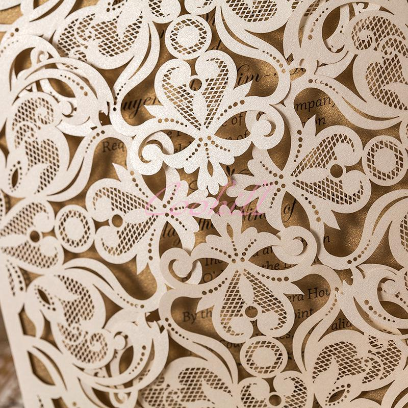 50 Sets Wedding Invitations Cards Engagement Gatefold Invite Laser Cut Out Blank Envelops Vintage With Seal White On Aliexpress