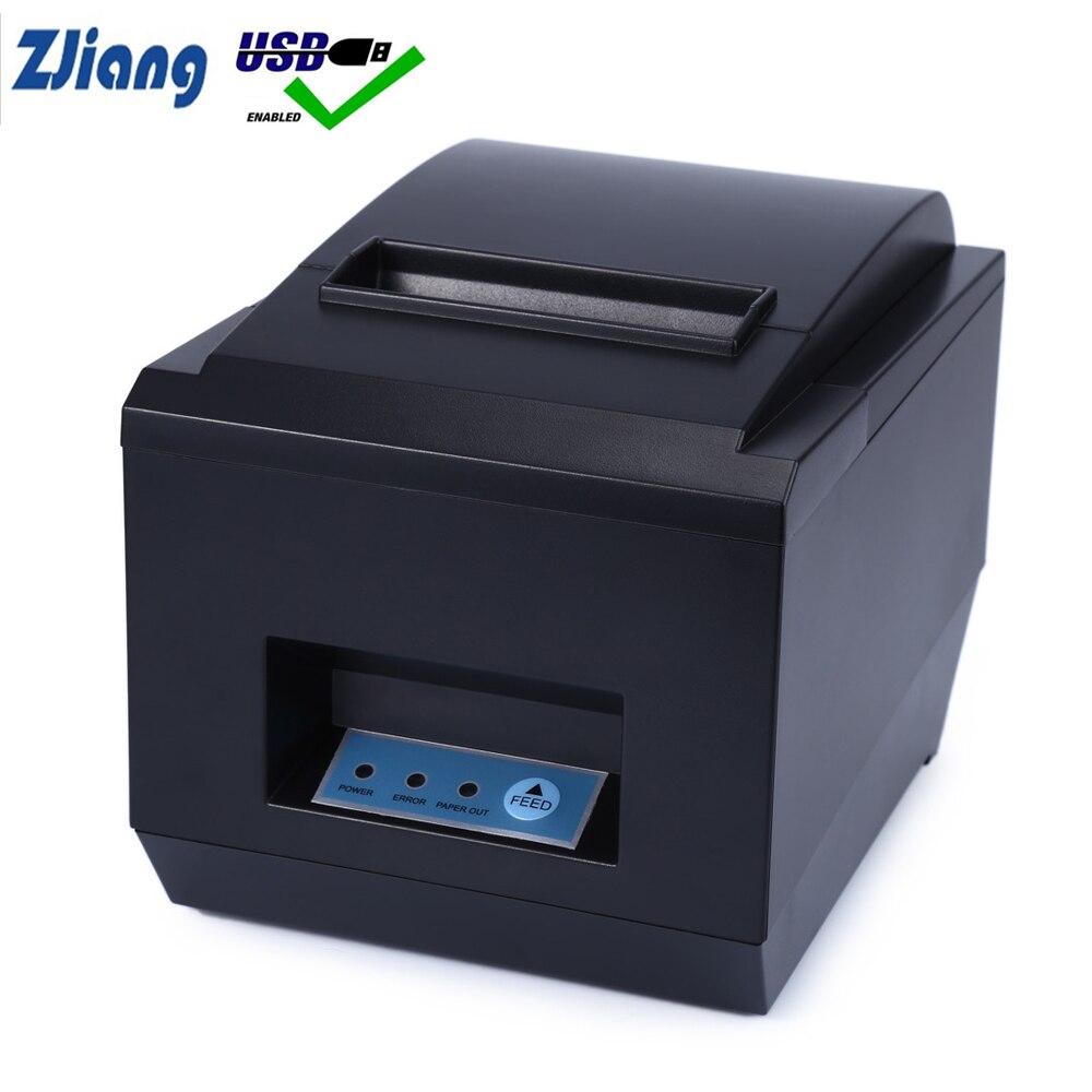 Haute qualité 80mm thermique réception imprimantes facture Cuisine Restaurant POS imprimante Avec coupe-papier automatique fonction ZJ-8250