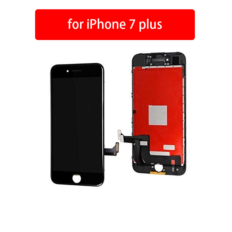 Black White AAA++ iPhone 7 Plus Screen Replacement For Lcd Touch Screen Digitizer Frame Assembly Set original a1419 lcd screen for imac 27 lcd lm270wq1 sd f1 sd f2 2012 661 7169 2012 2013 replacement