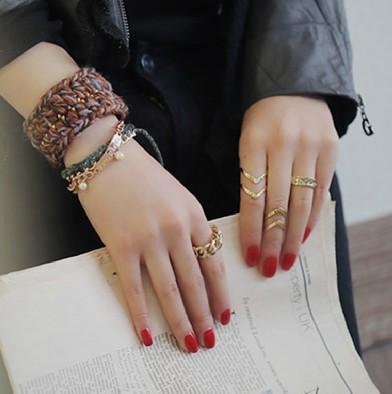HTB1DHj4HpXXXXb4aXXXq6xXFXXX8 3-Pieces Dazzling Gold Adjustable Cuff Finger Ring Gift Set For Women