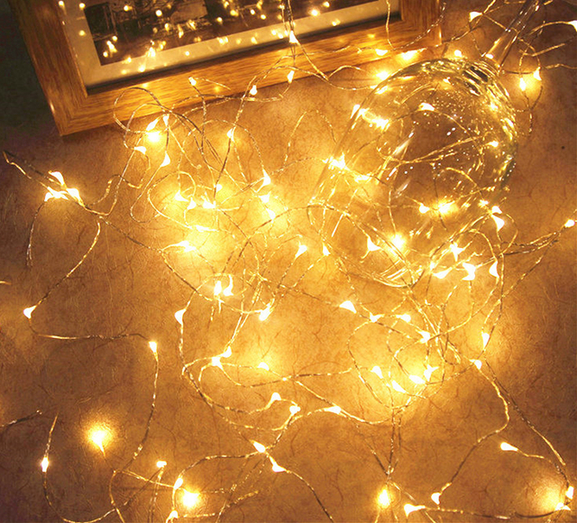 M Copper Wire LED String Lights Waterproof Fairy Christmas Tree - Diy copper stars for christmas decor