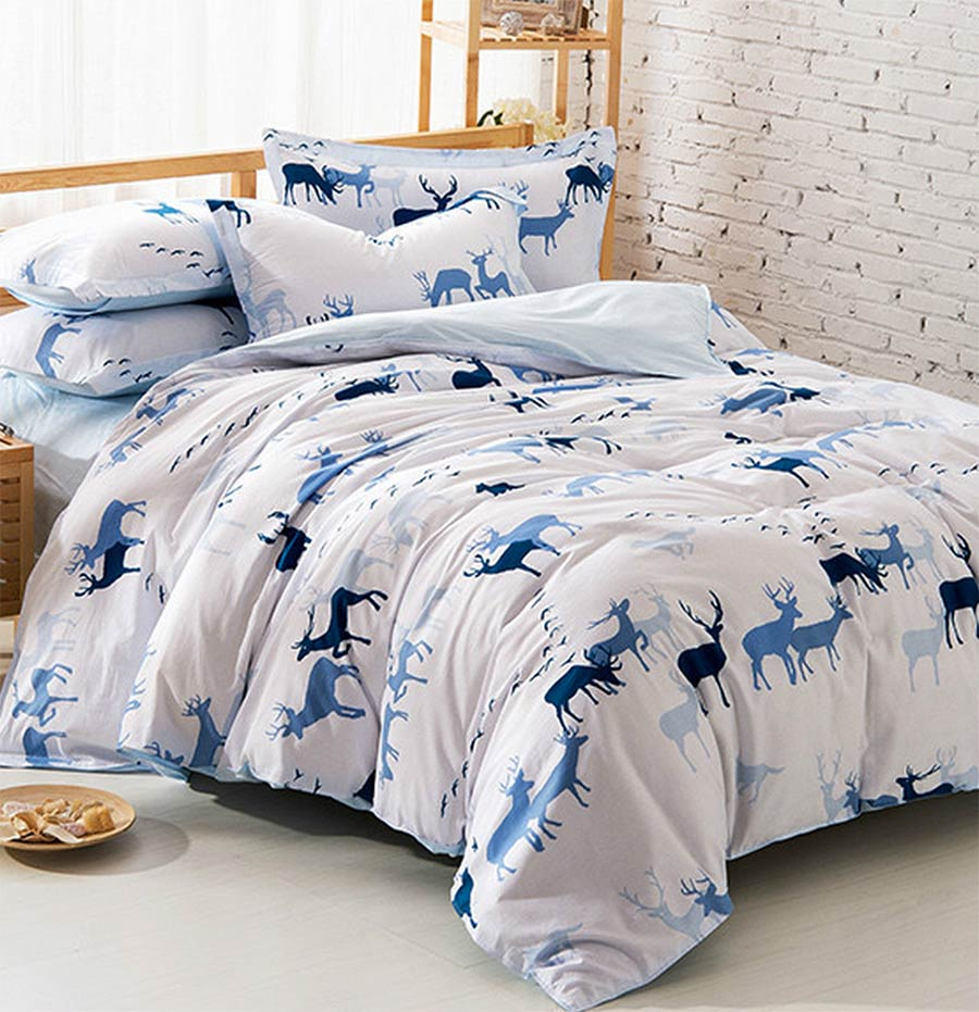 cute blur deer bedding sets teen kidsfull queen 100cotton european trend home textiles flat sheets pillow case duvet cover in bedding sets from home - Kids Full Sheets