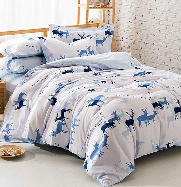 Cute Blur Deer Bedding Sets Teen Kids,full Queen 100%cotton European Trend  Home