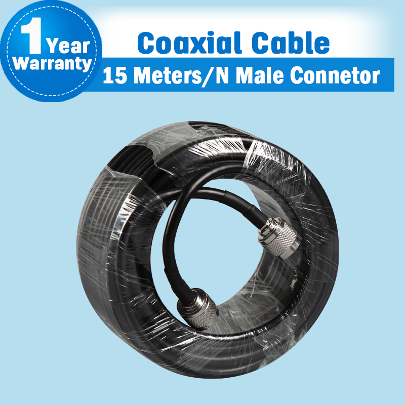 15 Meters High Quality N Male To N Male Connector 50ohm 5D Coaxial Cable For Mobile Phone Signal Booster Repeater Amplifier S34