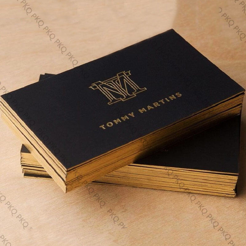 Us 138 0 200 Sheets Silvery And Gold Foil Printing Black 700gsm Business Cards Custom Upscale Cardboard With Silver Lace 5 19 In