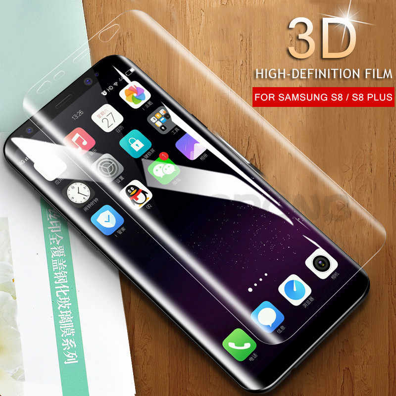 For Samsung Galaxy S9 S7 S6 Edge S8 Plus Note 8 9 Screen Protector Pet Film Full Cover 3D Curved Round Edge (Not Tempered Glass