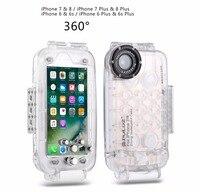 עבור iPhone 6 s בתוספת & 6 בתוספת 40 m טלפון עמיד למים shellDiving דיור מגן Case תמונה לקיחת וידאו מתחת למים כיסוי מקרה