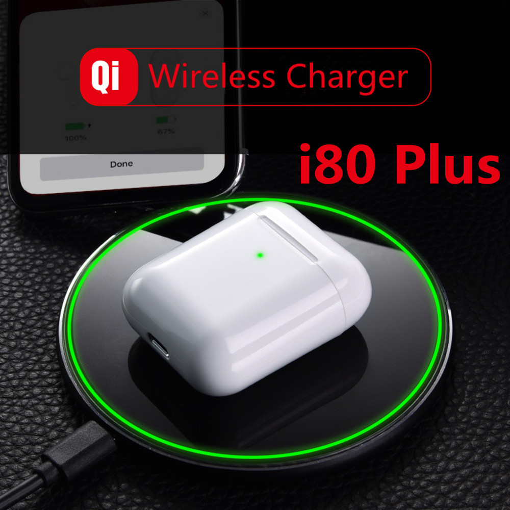 I80 plus Ar 2 près de 1:1 Pop Up casques Bluetooth sans fil TWS i80 plus pk w1 puce i20 i30 i60 i100 pour iPhone Android i80 TWS