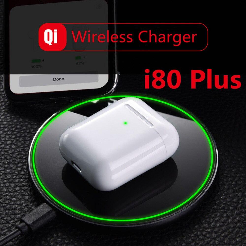 I80 plus Ar 2 près de 1:1 Pop Up casques Bluetooth sans fil TWS i80 plus pk w1 puce i20 i30 i60 i100 pour iPhone Android i80 TWS